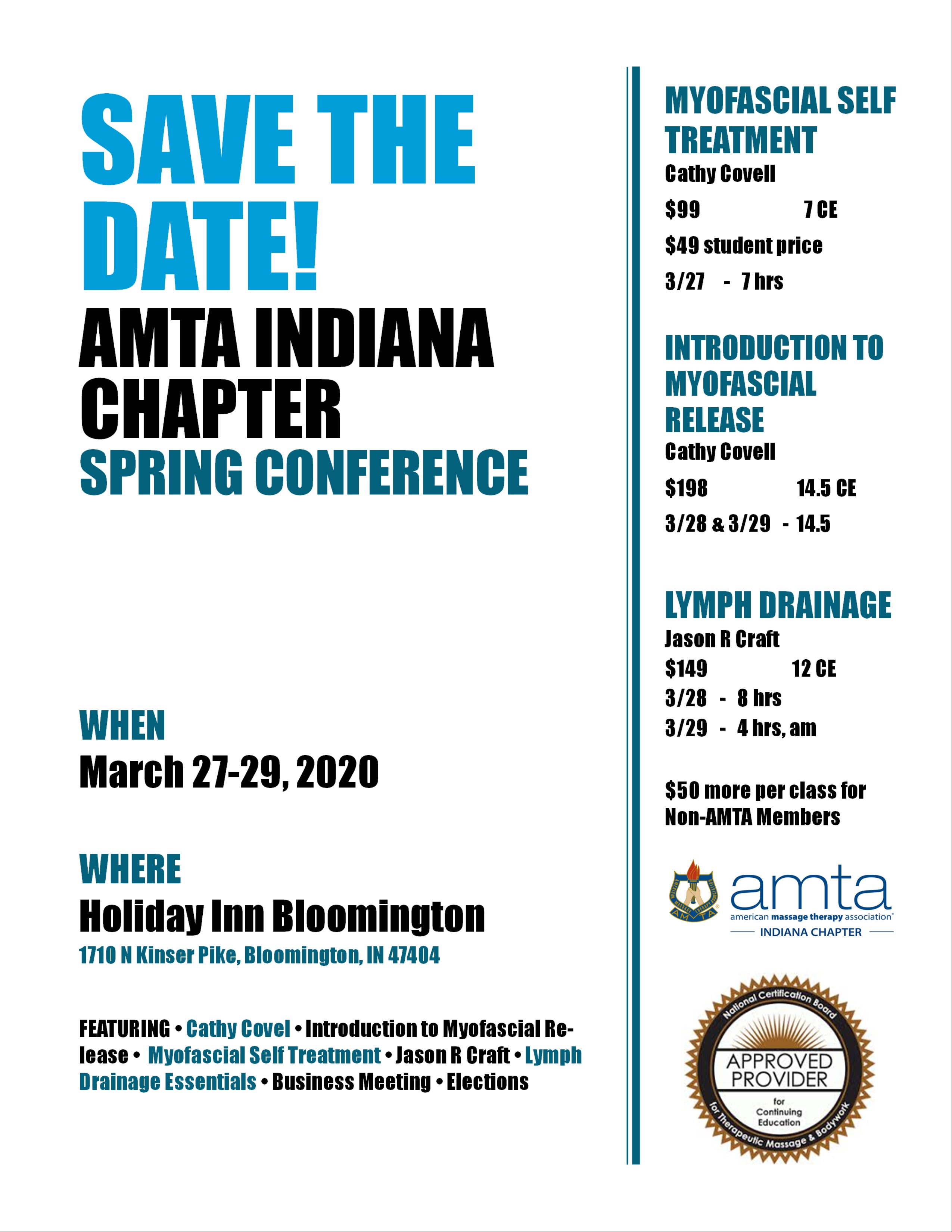 Save The Date! Spring Conference